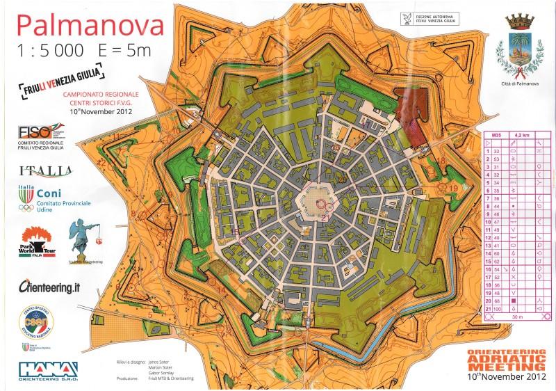 Palmanova orienteering map